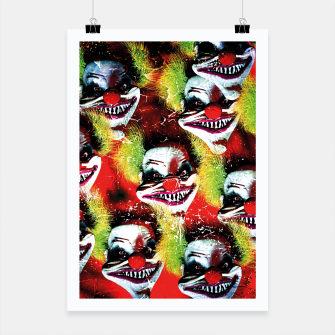 Thumbnail image of Scary Halloween Horrorclown Pattern Poster, Live Heroes