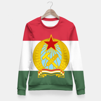 Miniatur Hungarian People's Republic (1949–1956) Flag Fitted Waist Sweater, Live Heroes