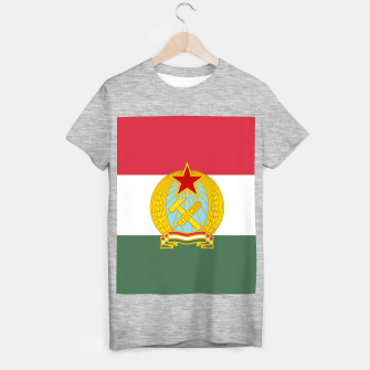 Miniaturka Hungarian People's Republic (1949–1956) Flag T-shirt regular, Live Heroes