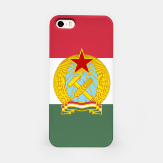 Miniatur Hungarian People's Republic (1949–1956) Flag iPhone Case, Live Heroes