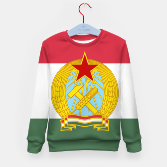 Miniatur Hungarian People's Republic (1949–1956) Flag Kid's Sweater, Live Heroes