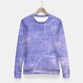 Thumbnail image of Artsy Blue Fitted Waist Sweater, Live Heroes