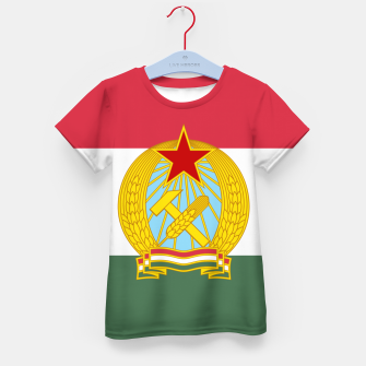 Miniatur Hungarian People's Republic (1949–1956) Flag Kid's T-shirt, Live Heroes