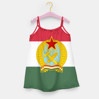 Miniatur Hungarian People's Republic (1949–1956) Flag Girl's Dress, Live Heroes