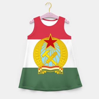 Miniatur Hungarian People's Republic (1949–1956) Flag Girl's Summer Dress, Live Heroes