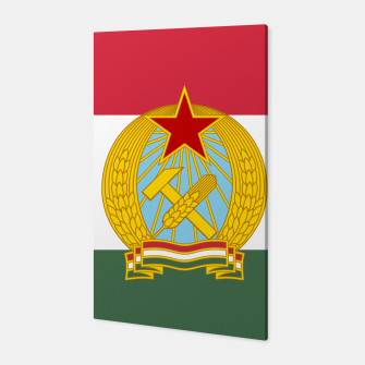 Miniatur Hungarian People's Republic (1949–1956) Flag Canvas, Live Heroes