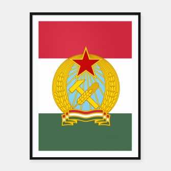 Miniatur Hungarian People's Republic (1949–1956) Flag Framed poster, Live Heroes
