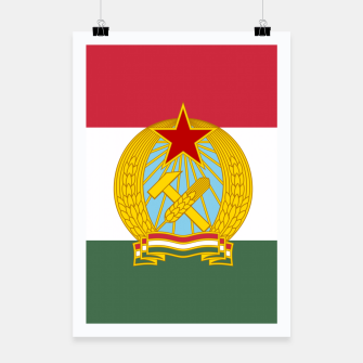 Miniatur Hungarian People's Republic (1949–1956) Flag Poster, Live Heroes