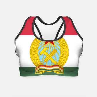 Miniatur Hungarian People's Republic (1949–1956) Flag Crop Top, Live Heroes