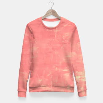 Thumbnail image of Artsy Pink Fitted Waist Sweater, Live Heroes