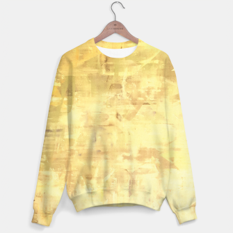 Thumbnail image of Artsy Yellow Sweater, Live Heroes