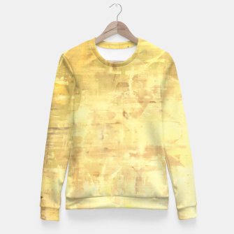Thumbnail image of Artsy Yellow Fitted Waist Sweater, Live Heroes