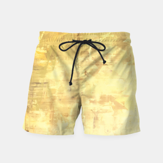 Thumbnail image of Artsy Yellow Swim Shorts, Live Heroes