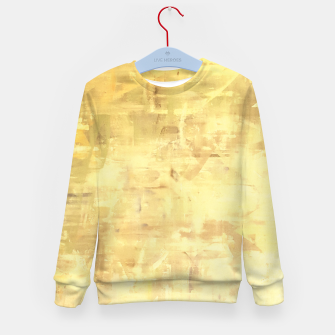 Miniatur Artsy Yellow Kid's Sweater, Live Heroes