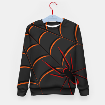 Scary Spider Kid's Sweater thumbnail image