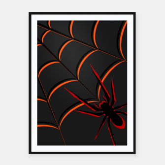 Thumbnail image of Scary Spider Framed poster, Live Heroes