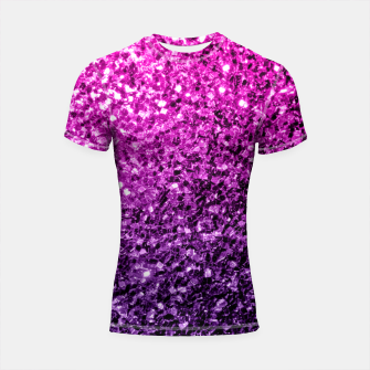 Thumbnail image of Beautiful Purple Pink Ombre glitter sparkles Shortsleeve Rashguard, Live Heroes