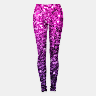 Thumbnail image of Beautiful Purple Pink Ombre glitter sparkles Leggings, Live Heroes