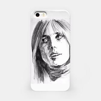 Thumbnail image of Tom Petty memory bw yulia a korneva iPhone Case, Live Heroes