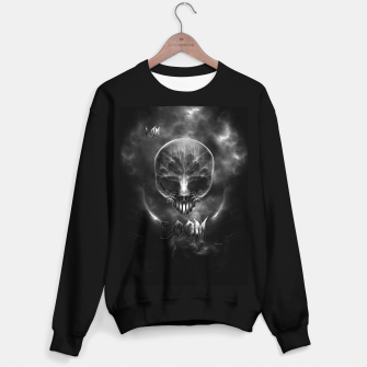 Thumbnail image of I Am Doom Fractal Skull Shadow Clouds Sweater regular, Live Heroes