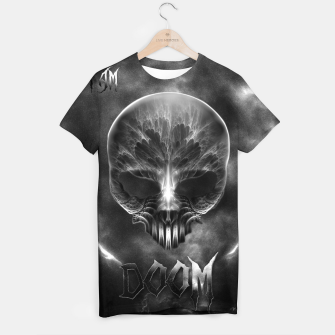 Thumbnail image of I Am Doom Fractal Skull Shadow Clouds T-shirt, Live Heroes