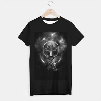 Thumbnail image of I Am Doom Fractal Skull Shadow Clouds T-shirt regular, Live Heroes