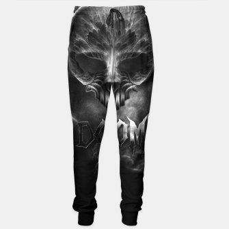 Thumbnail image of I Am Doom Fractal Skull Shadow Clouds Sweatpants, Live Heroes