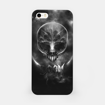 Thumbnail image of I Am Doom Fractal Skull Shadow Clouds iPhone Case, Live Heroes