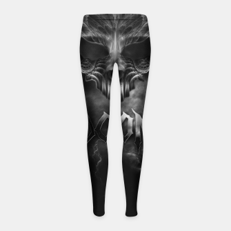 Thumbnail image of I Am Doom Fractal Skull Shadow Clouds Girl's Leggings, Live Heroes