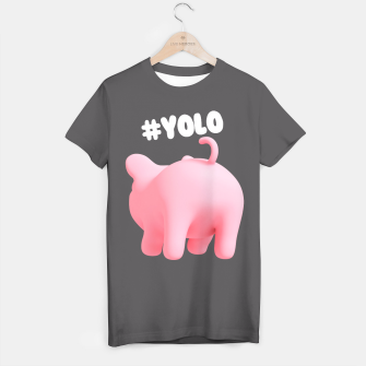 Rosa the Pig #YOLO  T-shirt thumbnail image