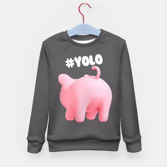 Rosa the Pig #YOLO  Kid's Sweater thumbnail image