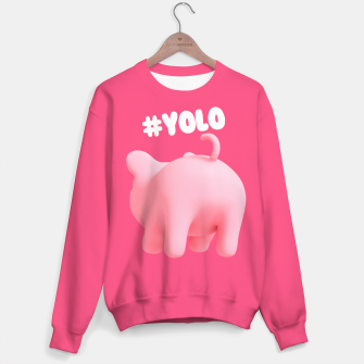 Thumbnail image of Rosa the Pig #Yolo Pink Sweater, Live Heroes