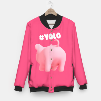 Thumbnail image of Rosa the Pig #Yolo Pink Baseball Jacket, Live Heroes
