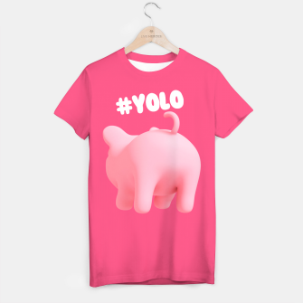 Thumbnail image of Rosa the Pig #Yolo Pink T-shirt, Live Heroes