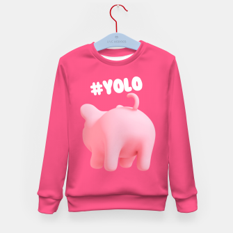 Thumbnail image of Rosa the Pig #Yolo Pink Kid's Sweater, Live Heroes