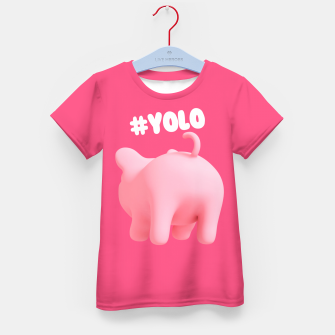 Thumbnail image of Rosa the Pig #Yolo Pink Kid's T-shirt, Live Heroes