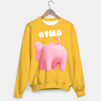 Thumbnail image of Rosa the pig #Yolo yellow Sweater, Live Heroes