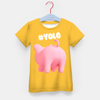 Thumbnail image of Rosa the pig #Yolo yellow Kid's T-shirt, Live Heroes