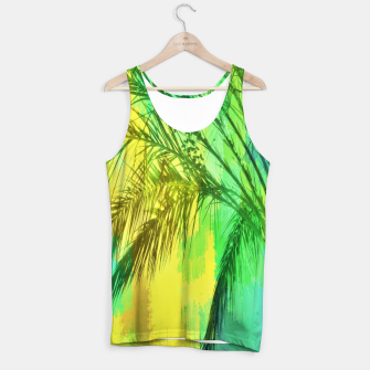 Thumbnail image of palm tree with green and yellow painting texture abstract background Tank Top, Live Heroes