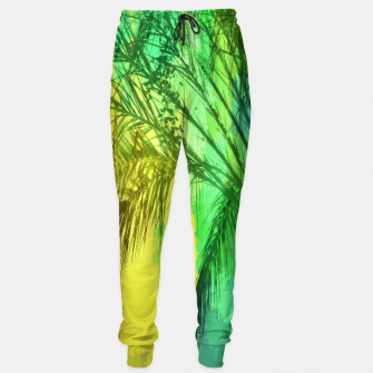 Thumbnail image of palm tree with green and yellow painting texture abstract background Sweatpants, Live Heroes