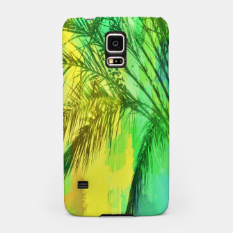 Thumbnail image of palm tree with green and yellow painting texture abstract background Samsung Case, Live Heroes