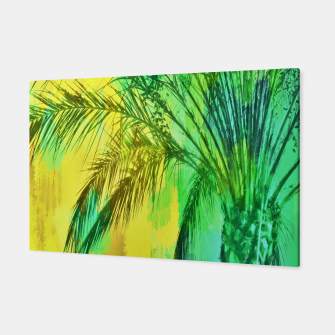 Thumbnail image of palm tree with green and yellow painting texture abstract background Canvas, Live Heroes