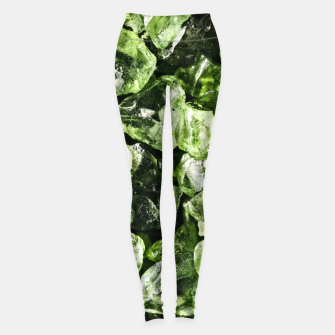 Thumbnail image of Vibrant greenery crystal rocks Leggings, Live Heroes