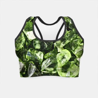 Thumbnail image of Vibrant greenery crystal rocks Crop Top, Live Heroes