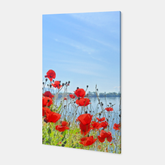Miniatur Poppies On The Lake Canvas, Live Heroes
