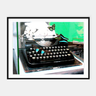 Thumbnail image of Typewriter Affiche et cadre, Live Heroes