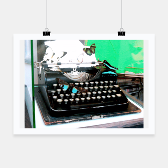Thumbnail image of Typewriter Affiche, Live Heroes