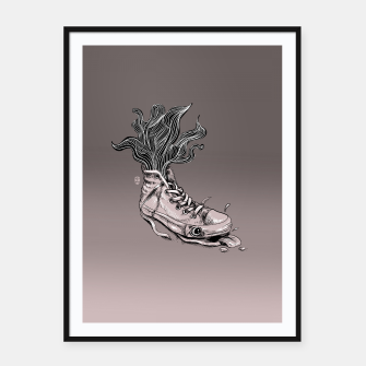 Miniaturka Tired Sneaker Framed poster, Live Heroes