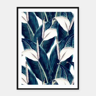 Miniatur Bluish floral botanical 0I Cartel con marco, Live Heroes