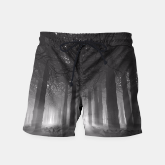 Miniatur Soul of the Forest B&W Swim Shorts, Live Heroes
